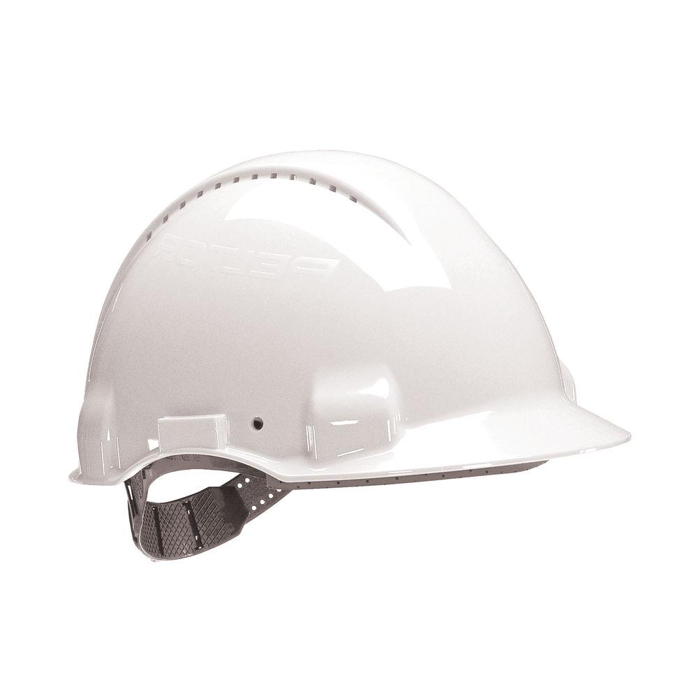 3M White UV Stabilised ABS Peltor Safety Helmet - G30CVI
