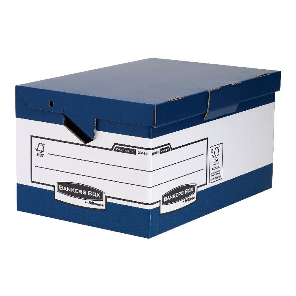 Bankers Box Blue/White Heavy Duty Maxi Storage Box, Pack of 10 - 0048901