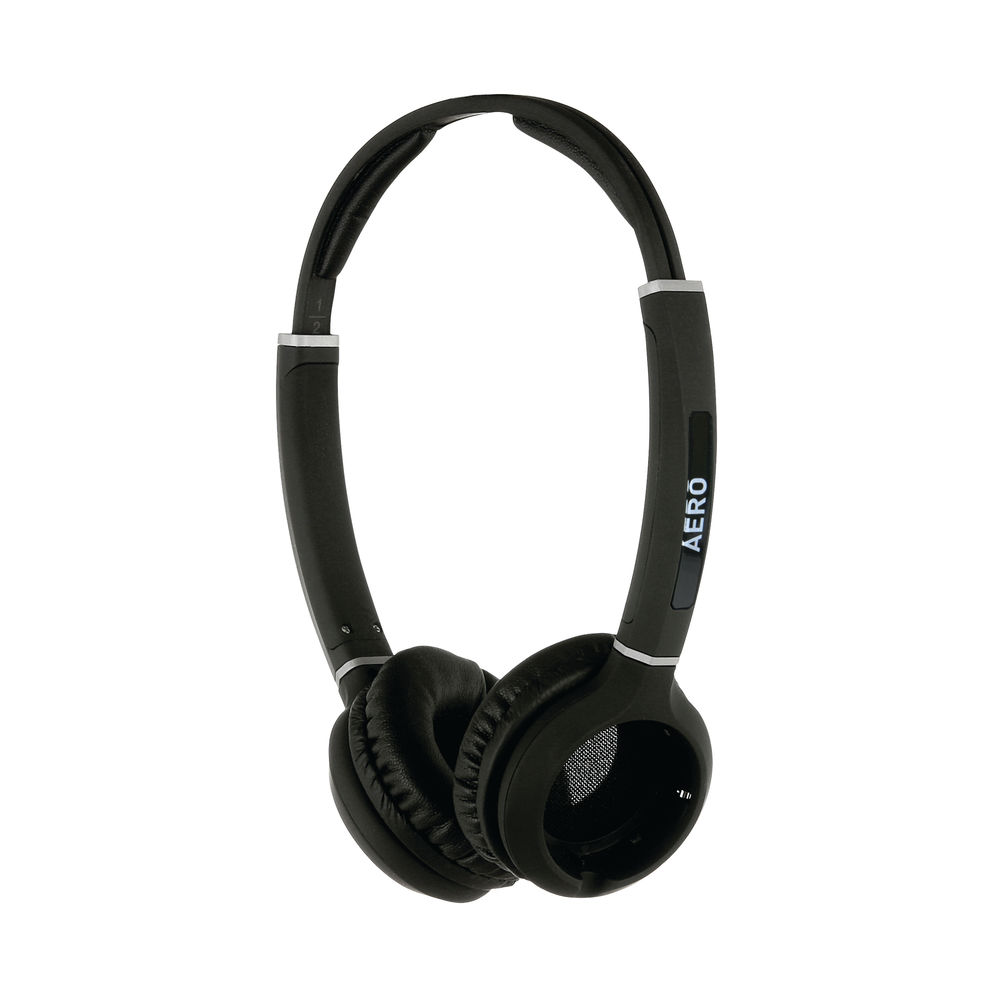 JPL Radius Aero Binaural 2-in-1 Convertible Headset Headband Black VERSOHeadbandBIN