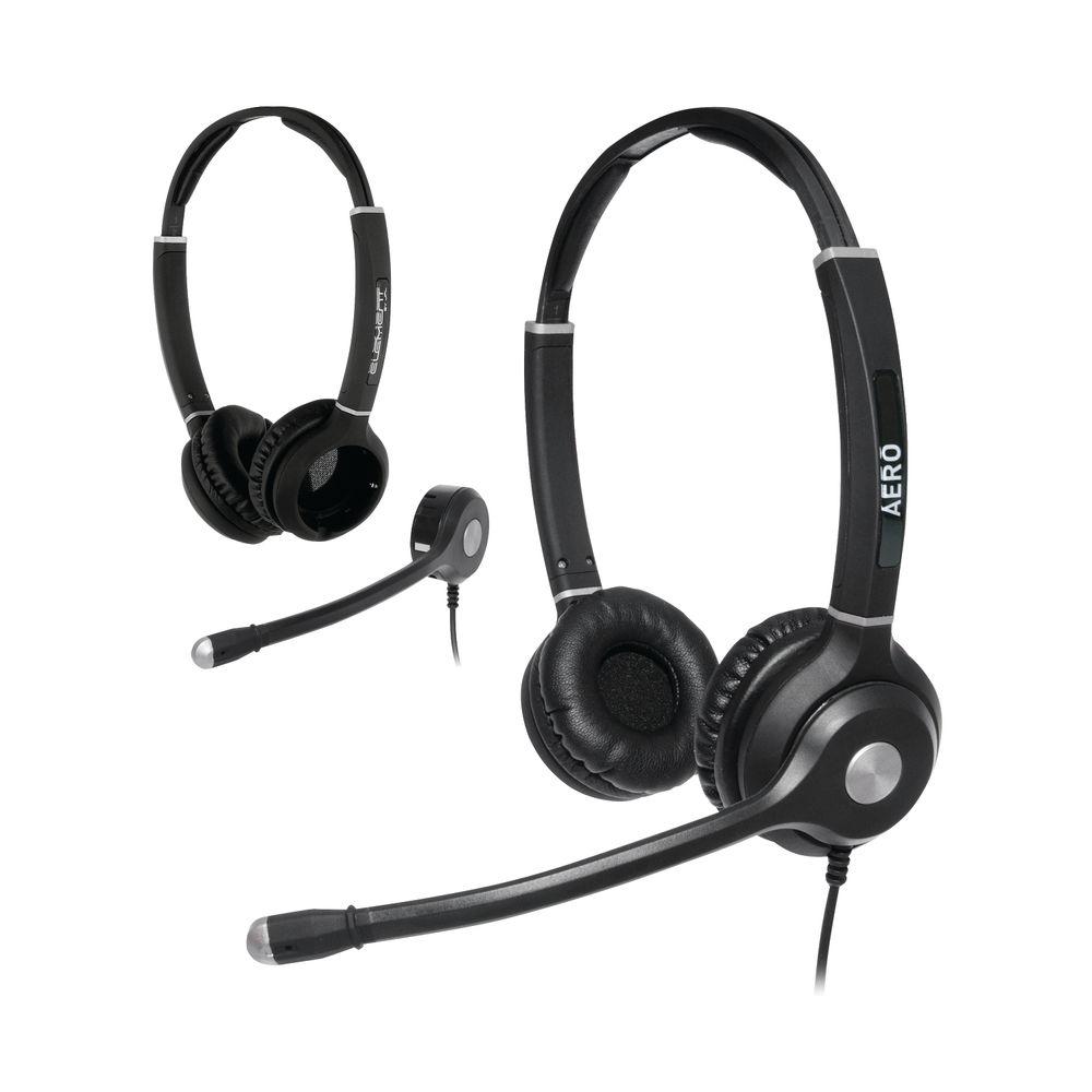 JPL Radius Aero 2-in1 Convertible Binaural Headset And Microphone Headband NC Bundle AEROBINBUNDLE