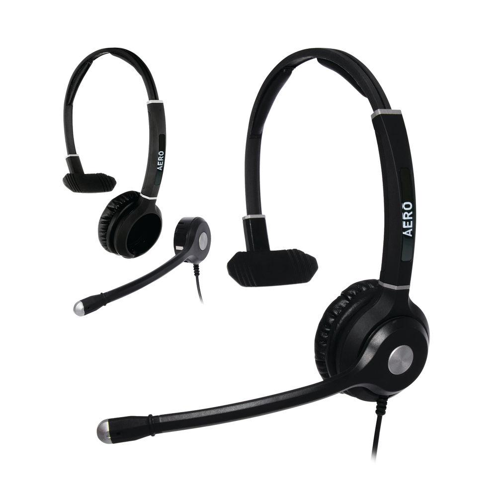 JPL Radius Aero 2-in1 Convertible Monaural Headset And Microphone Headband NC Bundle AEROMONBUNDLE