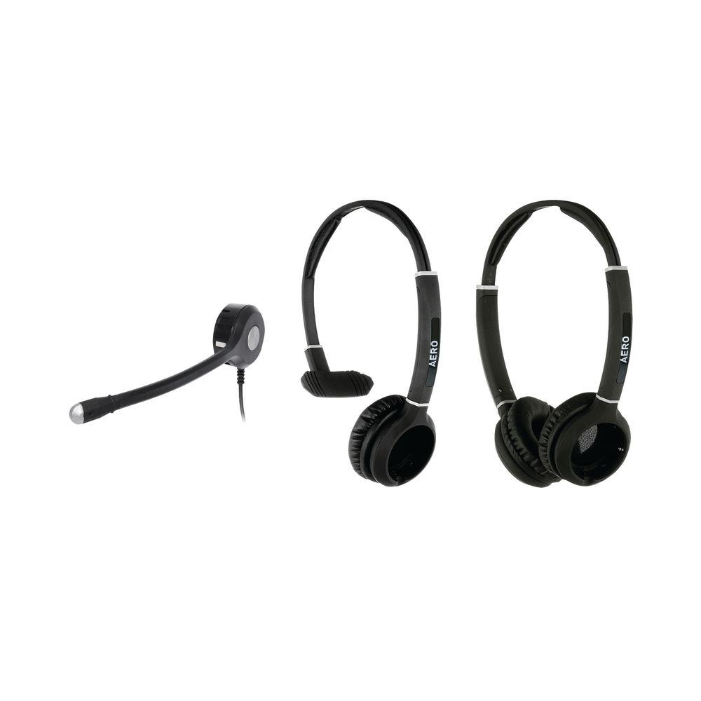 JPL Radius Aero 2-in1 Convertible Monaural/Binaural Headset And Microphone NC Bundle AEROTRIPBUNDLE