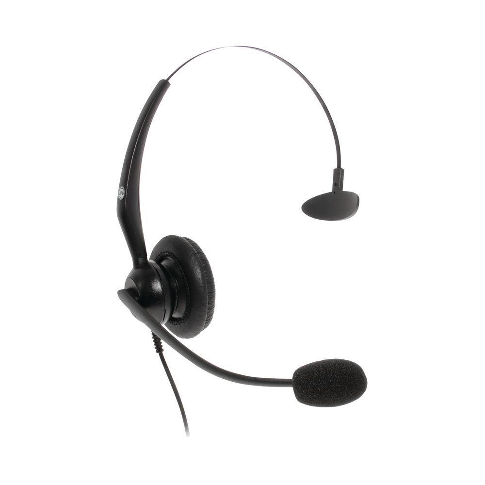 JPL JACPLUS Monaural Adjustable USB Headset Clothing Clip Black JACPLUSUSBMON