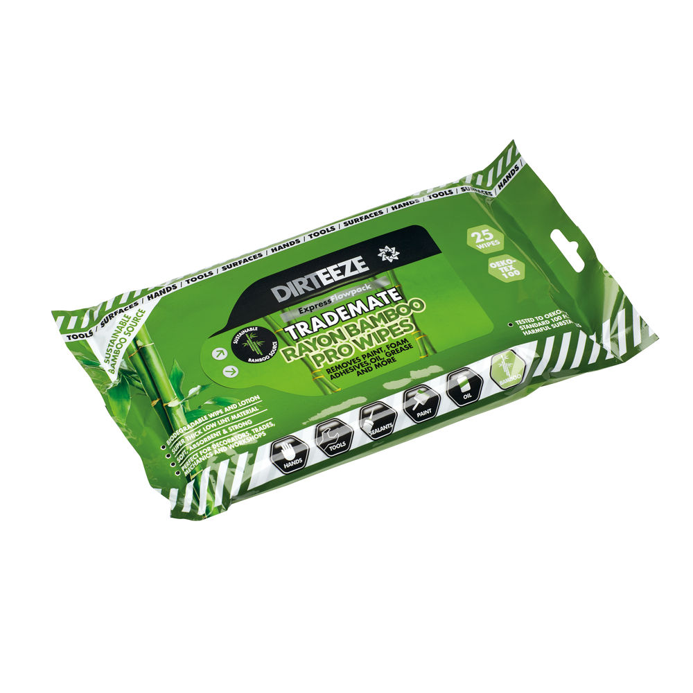 Dirteeze Eco Bamboo Degreaser Wet Wipes - DGBF25