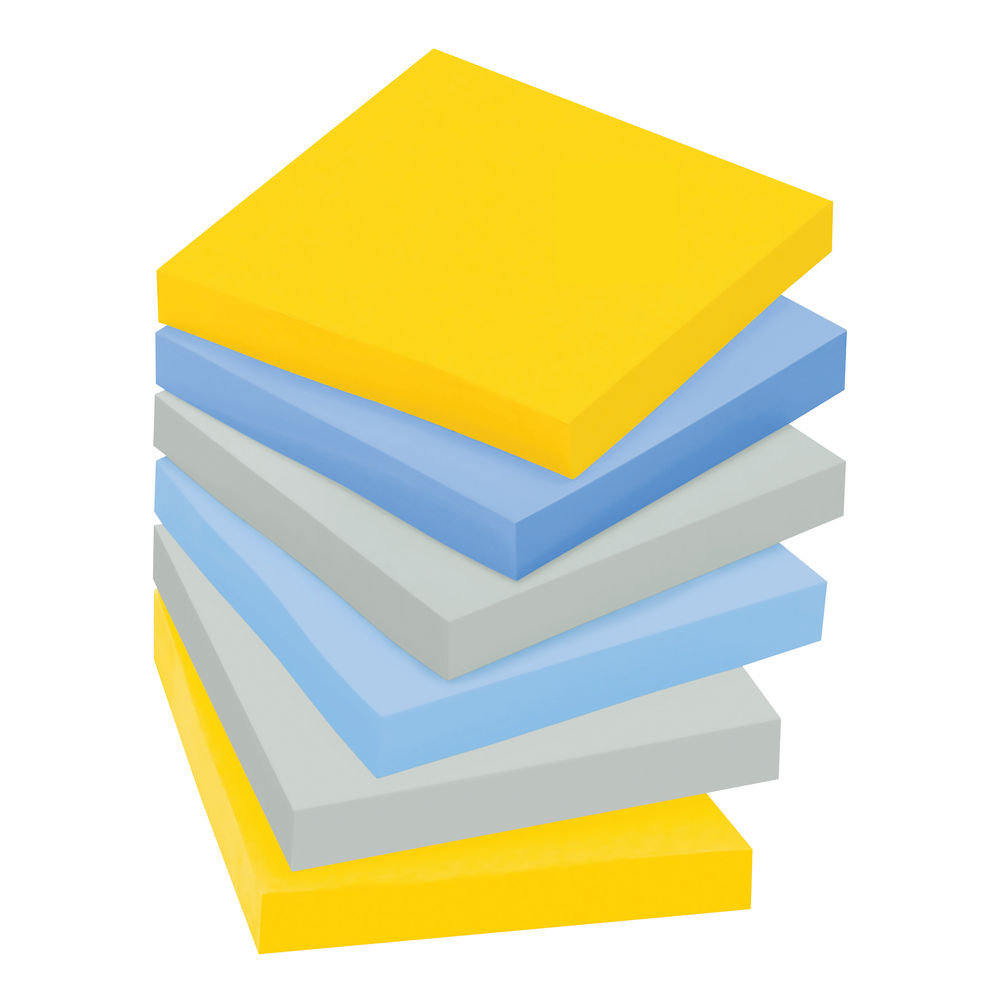 Post-it New York 76 x 76mm Super Sticky Notes, Pack of 6 - 654-SS-NY