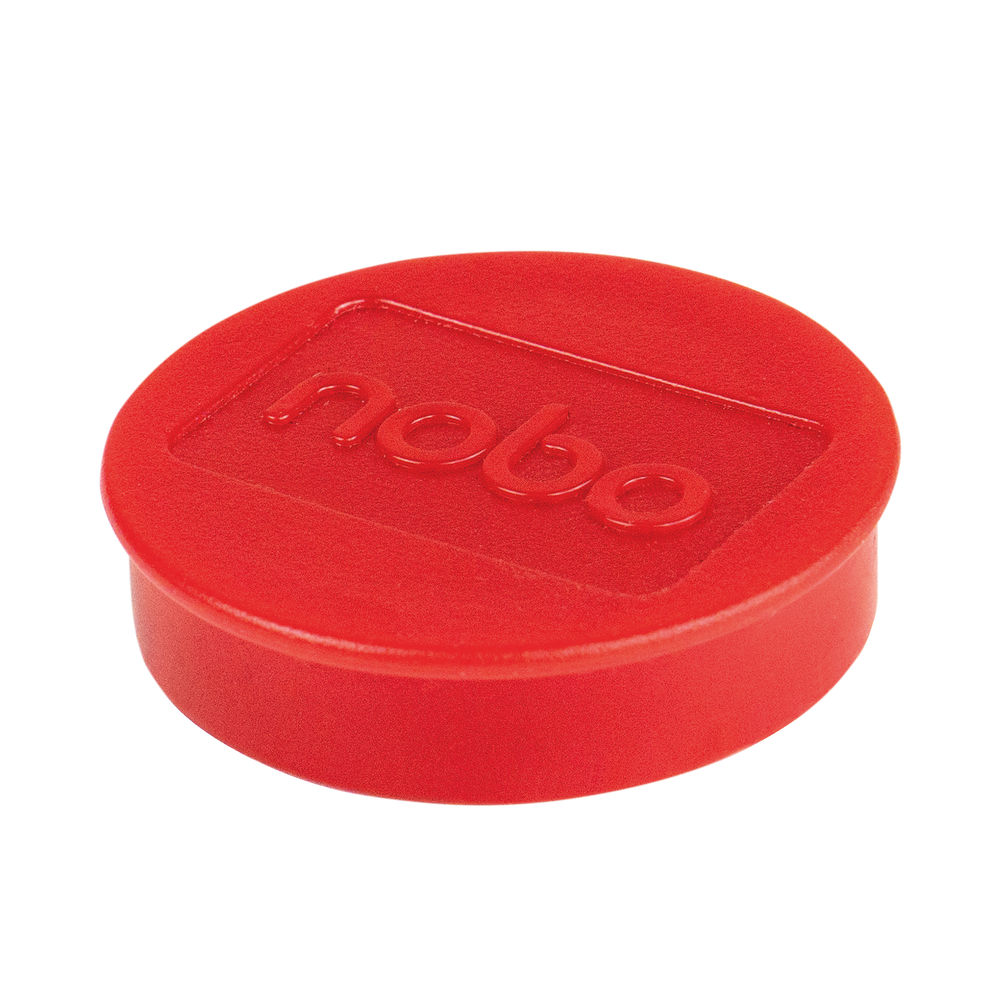 Nobo Whiteboard Magnets 38mm Red (Pack of 10) 915314