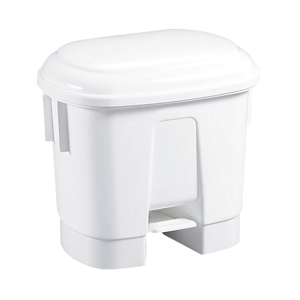 Derby Plastic Pedal Bin 30L White 348020