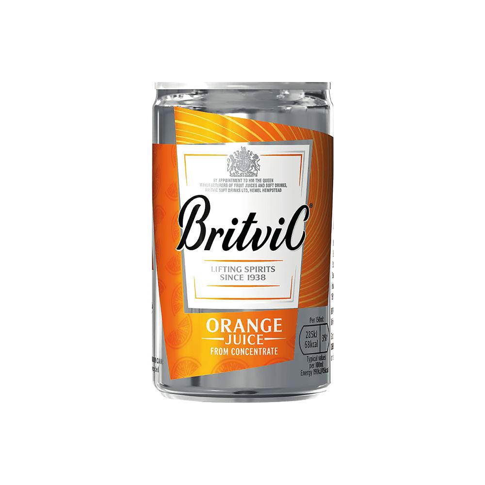 Britvic Orange Juice 330ml Cans, Pack of 24   402045