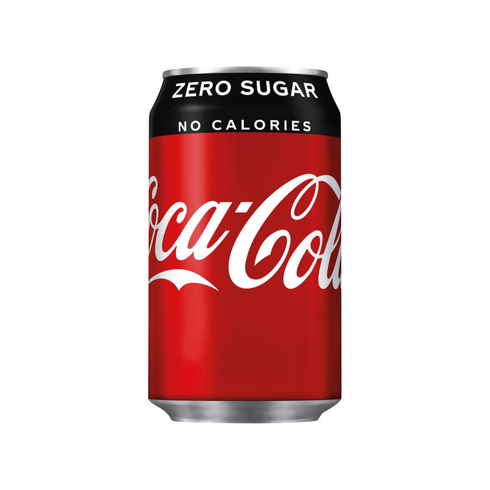Coke Zero 330ml Cans, Pack of 24 - 402003