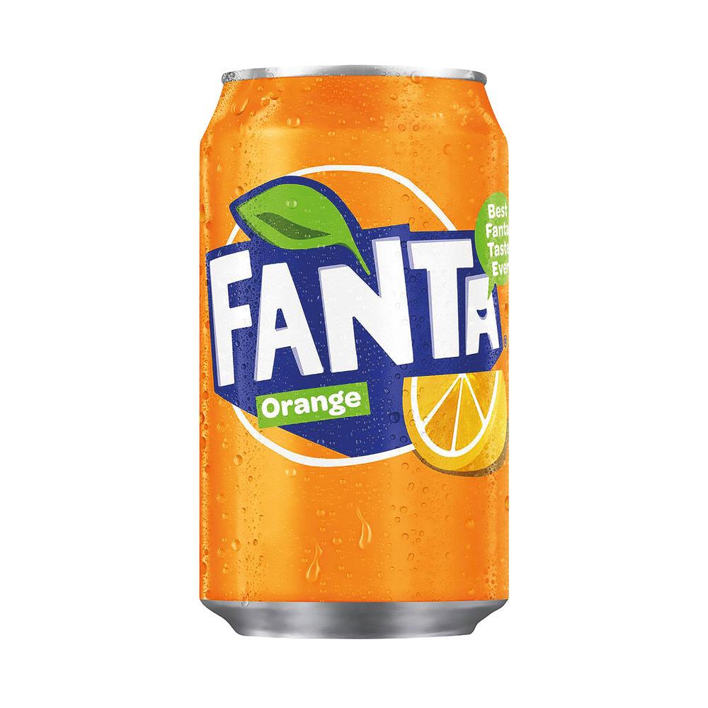 Fanta Orange 330ml Cans, Pack of 24 - A00769