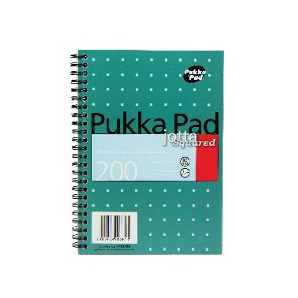 Pukka Pad A5 Metallic Square Jotta Notepads, Pack of 3 - JM021SQ