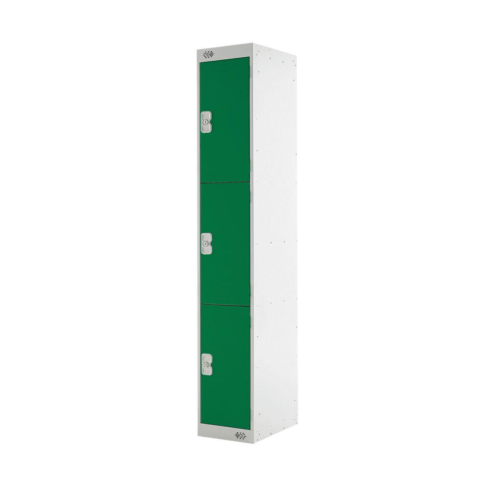 Three Compartment D300mm Green Locker - MC00016