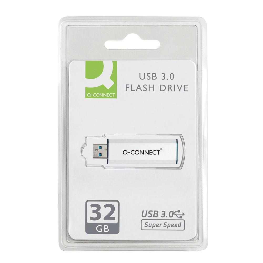 Q-Connect 32GB USB 3.0 Slider Flash Drive - KF16370