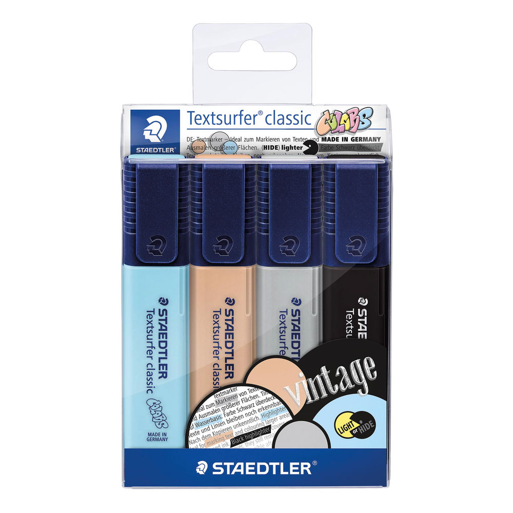 Staedtler Assorted Textsurfer Classic Highlighters, Pack of 4 - 364 CWP4
