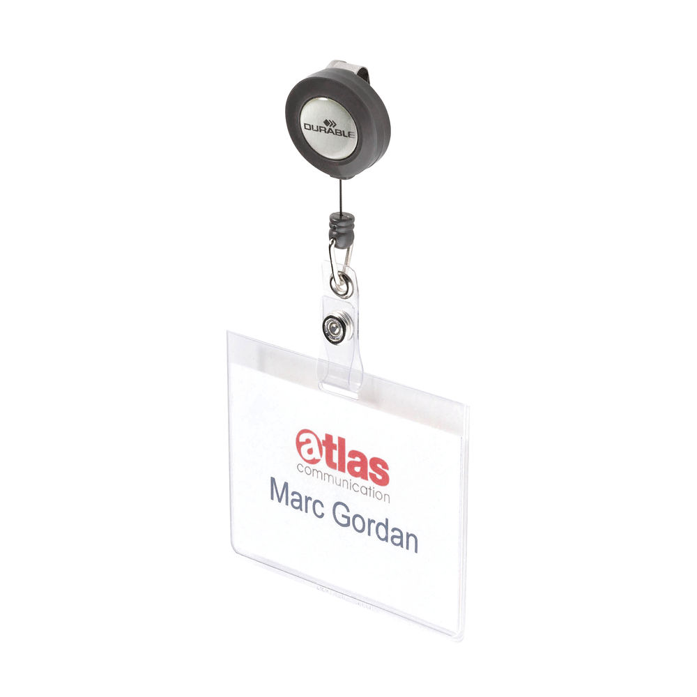Durable Mono 60 x 90mm Security Pass Holders, Pack of 10 - 8138/19