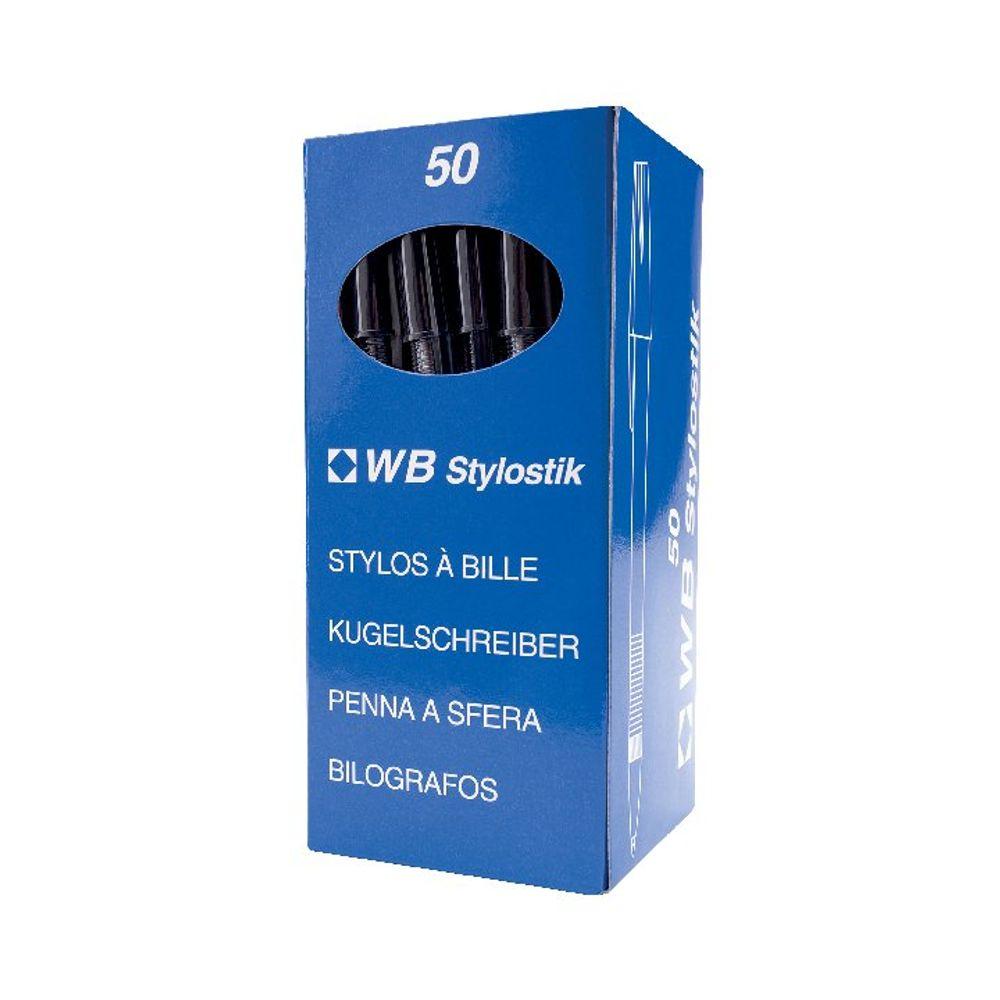 Economy Black Medium Ballpoint Pens, Pack of 50 - WX26040