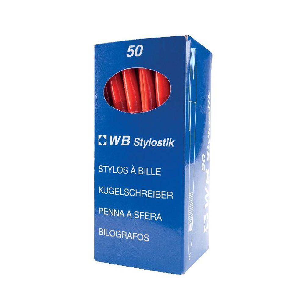 Red Medium Ballpoint Pens (Pack of 50) WX893616