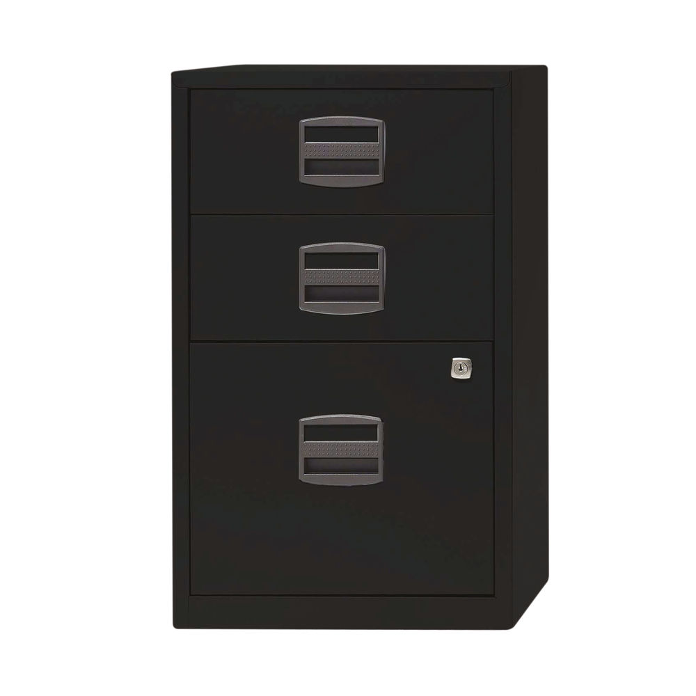 Bisley 672mm A4 Black 3 Drawer Home Filer - PFA3-93