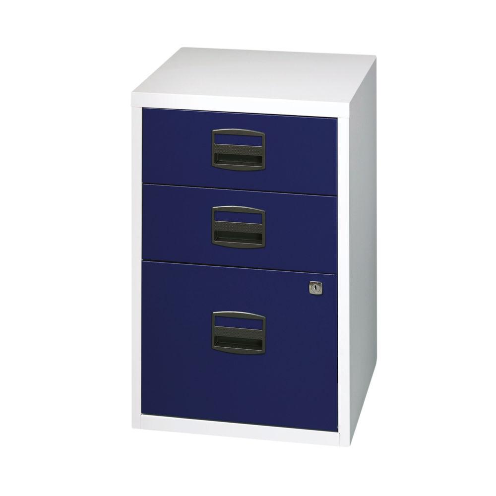 Bisley 672mm Grey/Blue Home 3 Drawer Filing Cabinet - PFA3-8748