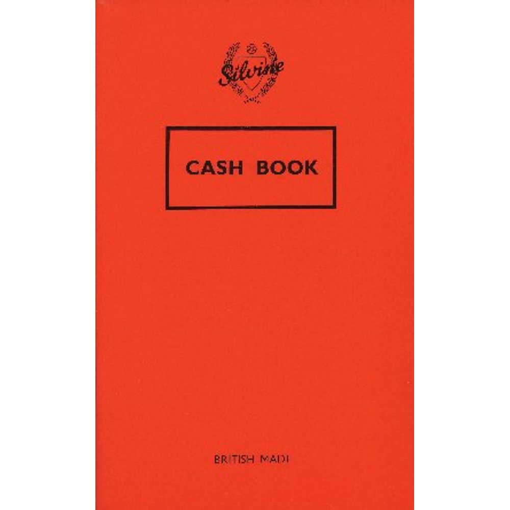 Silvine 159 x 95mm Feint Ruled Cash Book - Pack of 24 - 042C-T