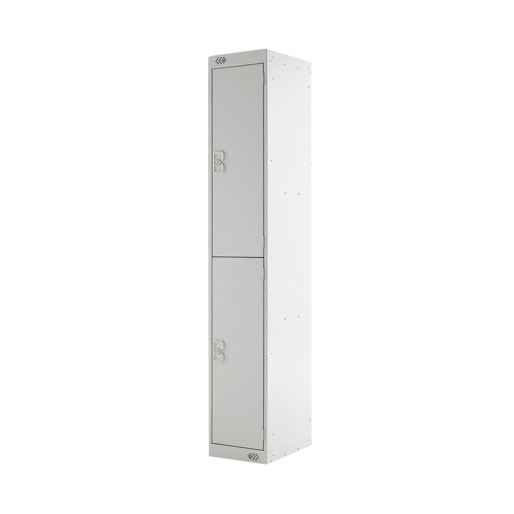 Two Door H1800mm Light Grey Express Standard Locker - MC00140