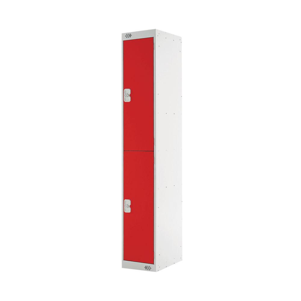 Two Compartment D300mm Red Express Standard Locker - MC00141