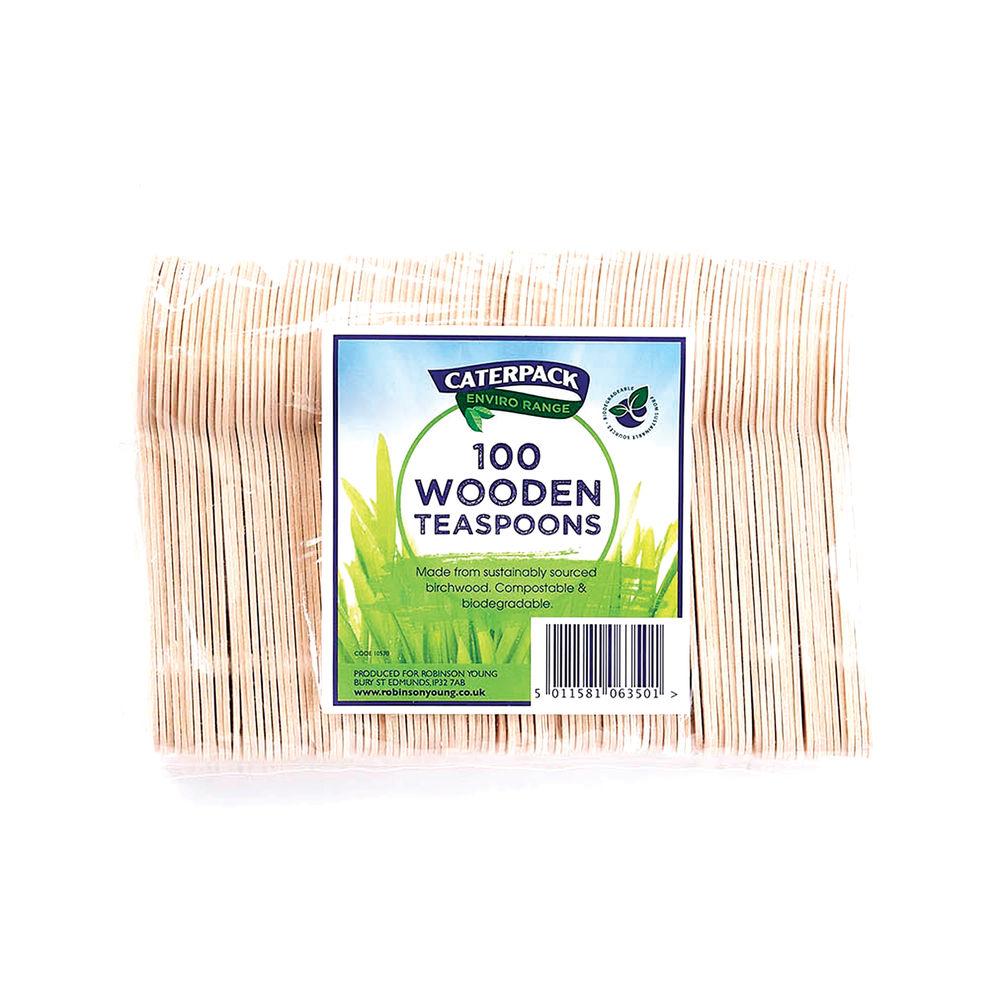 Caterpack ENVIRO Wooden Tea Spoons (Pack of 100) RY10570