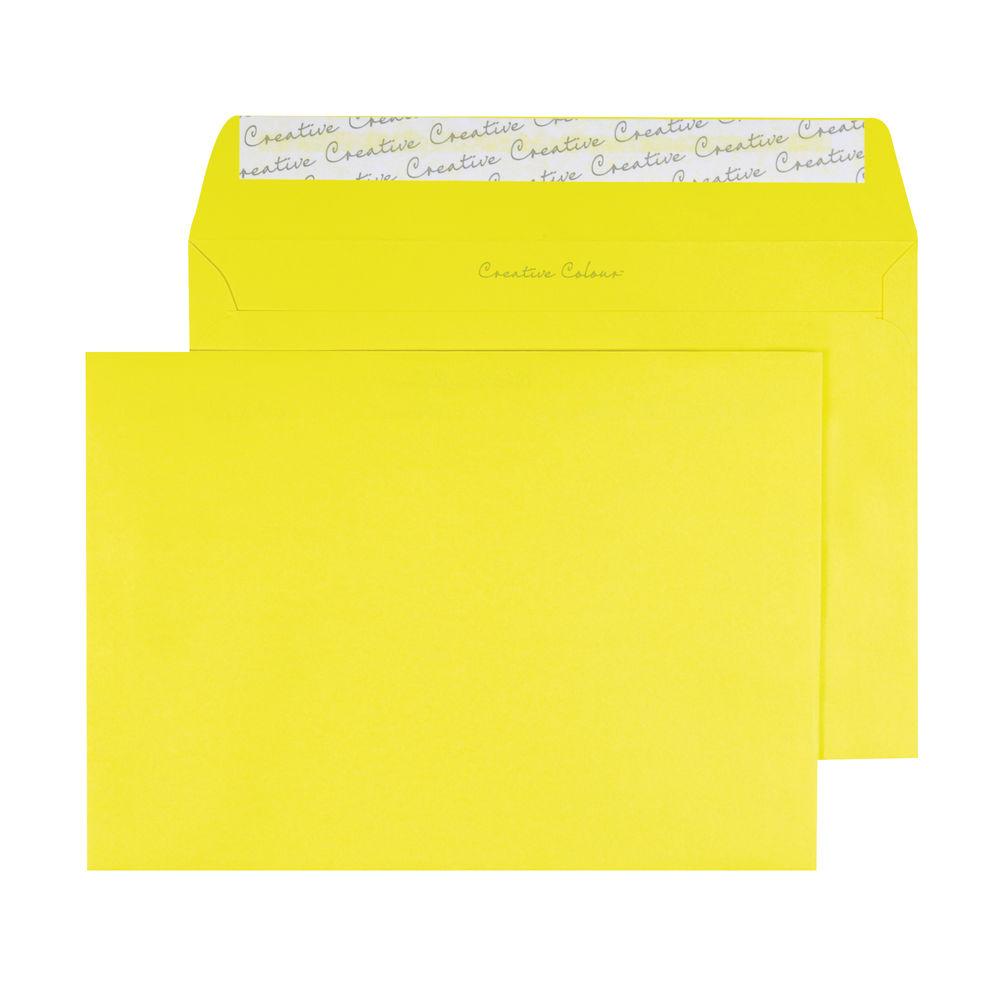 C5 Wallet Envelope Peel and Seal 120gsm Banana Yellow (Pack of 250) BLK93019