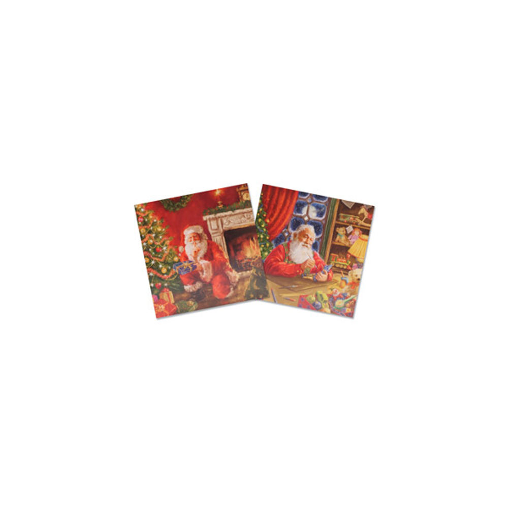 Santa Christmas Cards with Envelopes - Pack of 10 - Christmas Shop