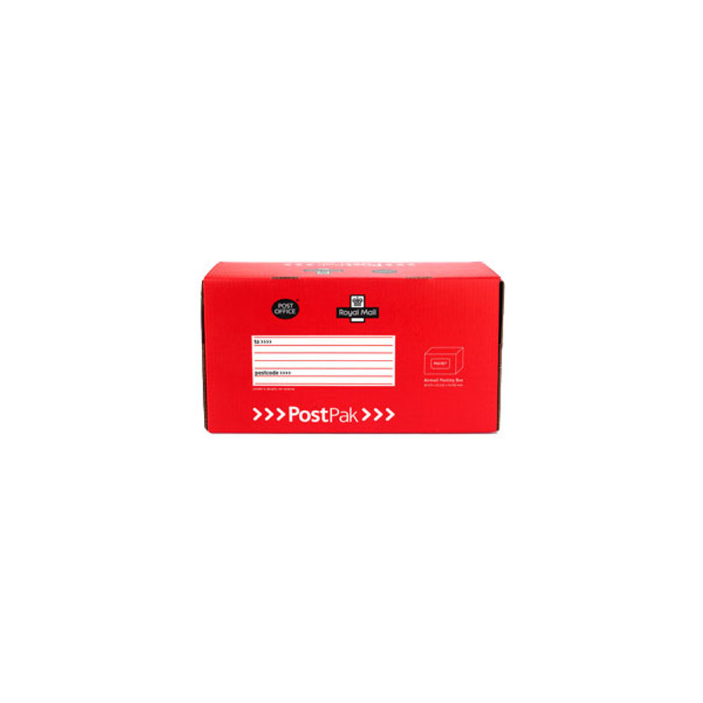PostPak Medium Parcel Red Airmail Box 159 x 470 x 255mm 41202