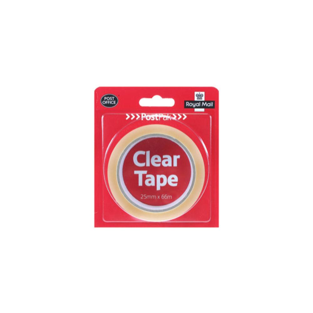 PostPak 19mm x 66m Clear Tape Medium Roll - 936057