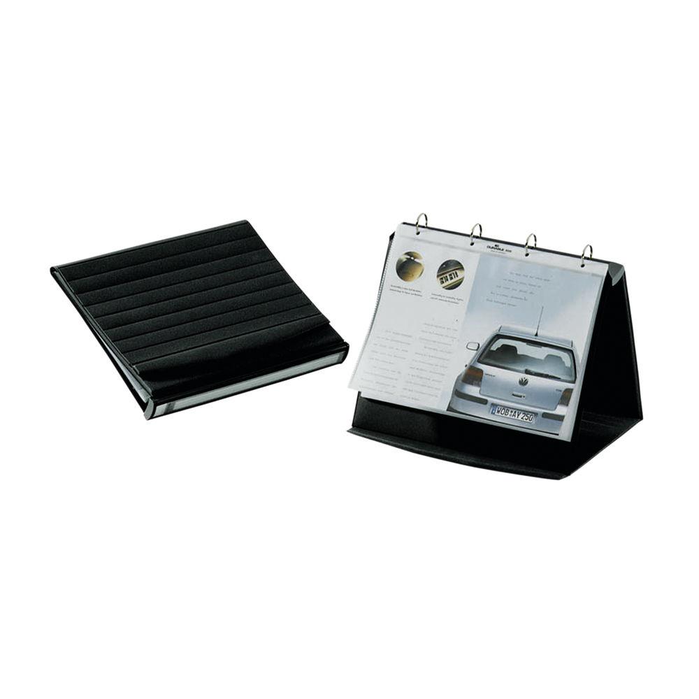 Durable Durastar Black A4 Table Top Presenter - 8567/39