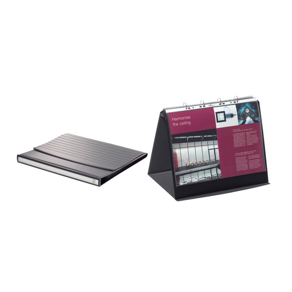 Durable Durastar Black A3 Landscape Table Top Presenter - 8569/39