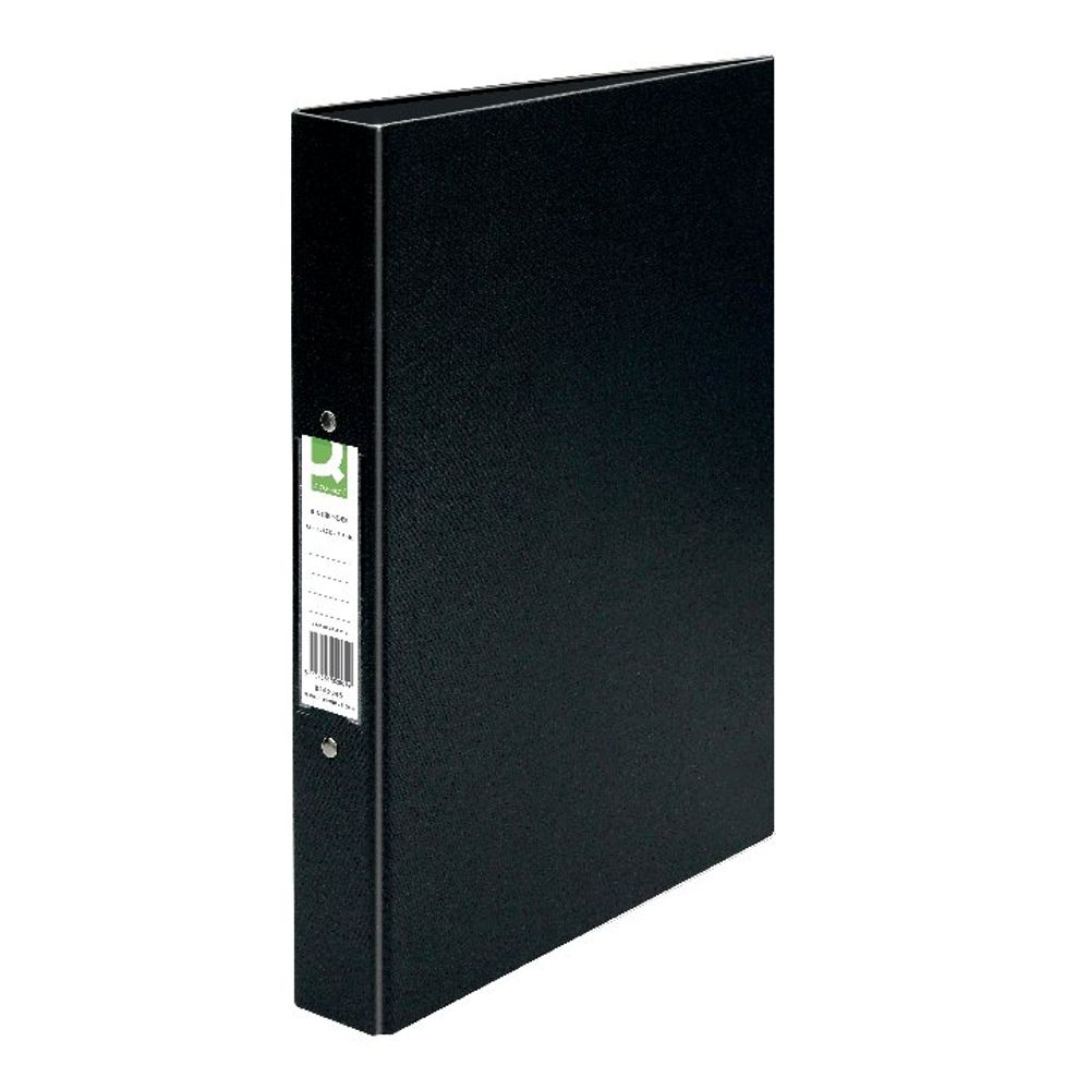 Q-Connect Black A4 25mm 2 Ring Binder - KF02005X