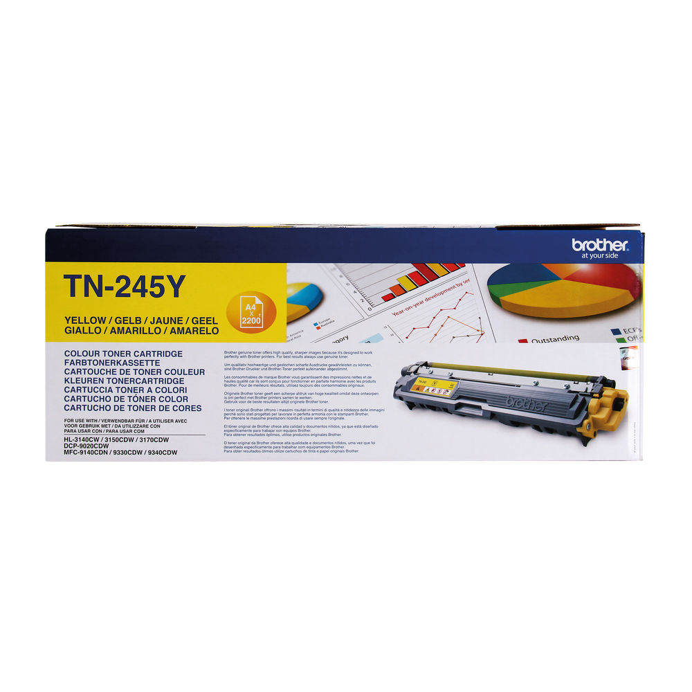 Brother TN-245Y Yellow Toner Cartridge - High Capacity TN245Y
