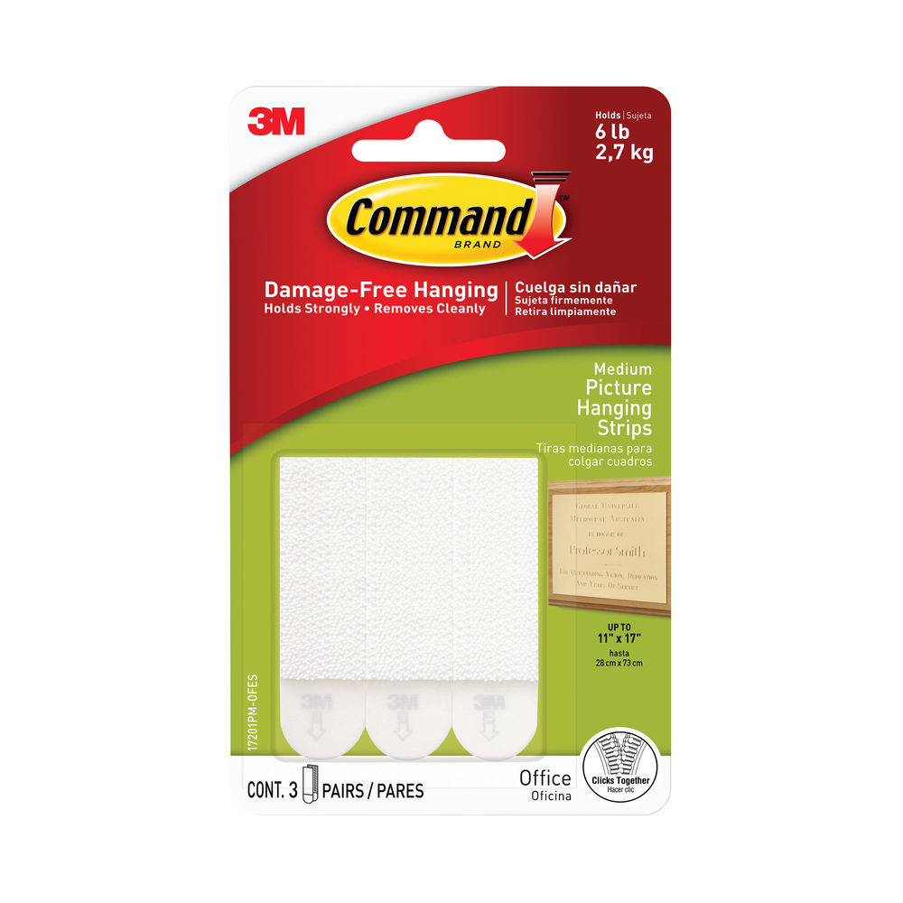 Command Medium Picture Hanging Strips, Pack of 4 - 17201-4PK