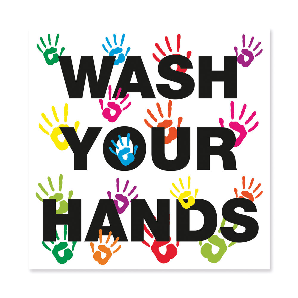 Wash Your Hands Vinyl Sign - FA066QSAVM