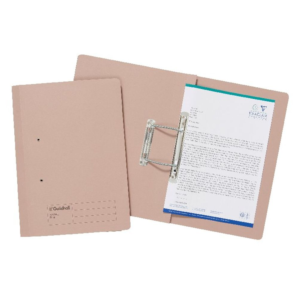 Exacompta Guildhall Transfer File 285gsm Foolscap Buff (Pack of 25) 346-BUFZ