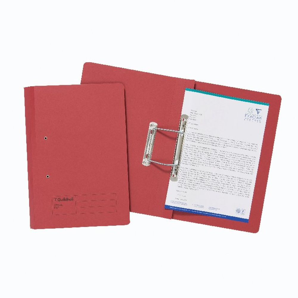Guildhall Red Foolscap Transfer Files 285gsm - Pack of 25 - 22208