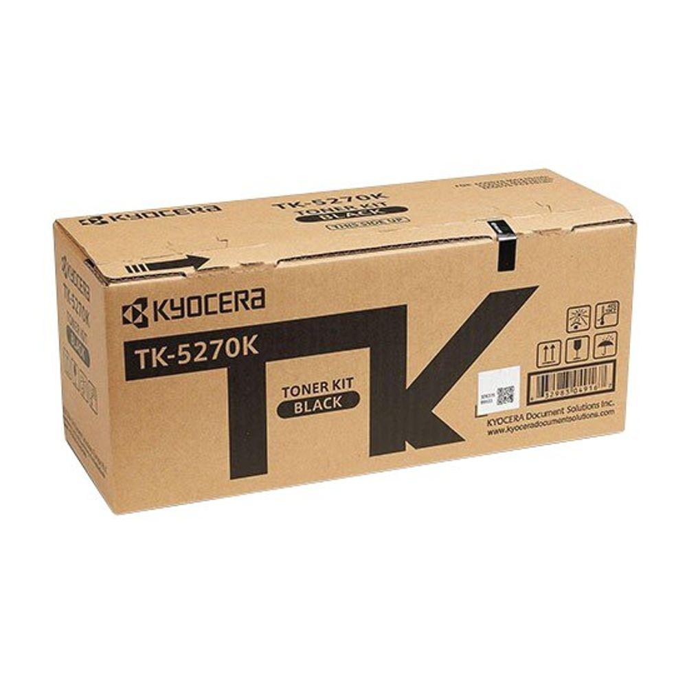 Kyocera TK-5270K Black Toner Cartridge (8000 page capacity) 1T02TV0NL0