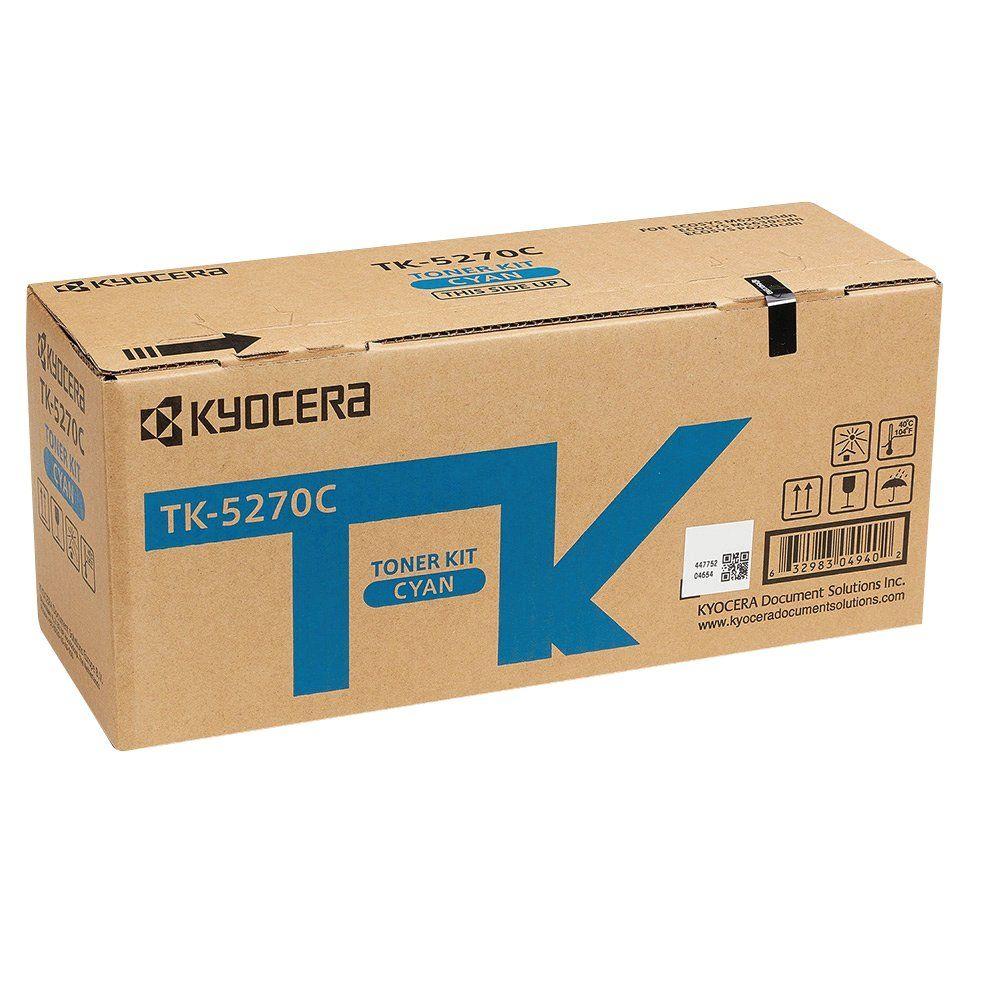 Kyocera Toner Cartridge Cyan TK-5270C (6000 page capacity) 1T02TVCNL0