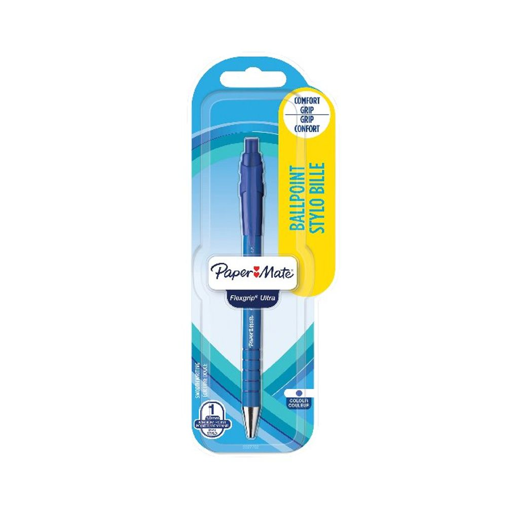 PaperMate Flexgrip Retractable Ball Pen Blue (Pack of 12) 2027752