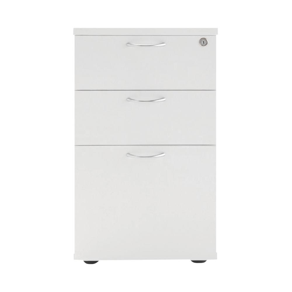 Jemini 690mm White 3 Drawer Under Desk Pedestal