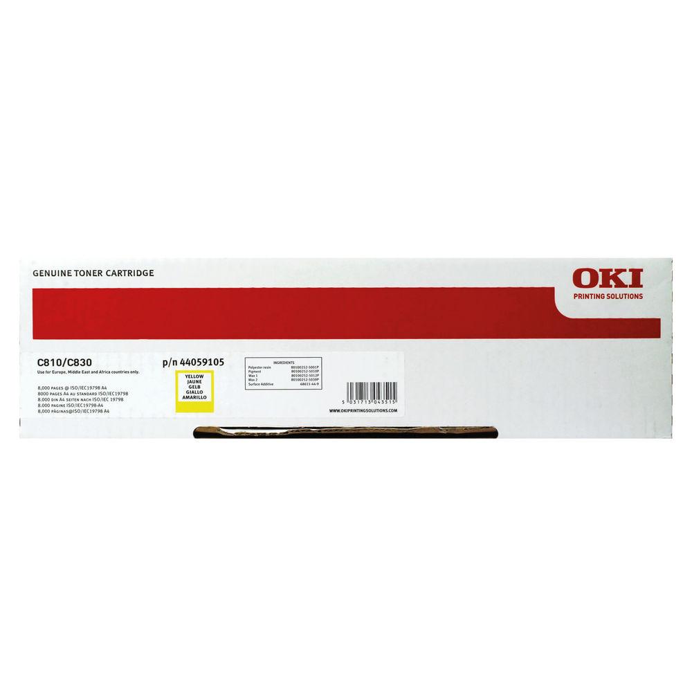 Oki Yellow Toner Cartridge - 44059105