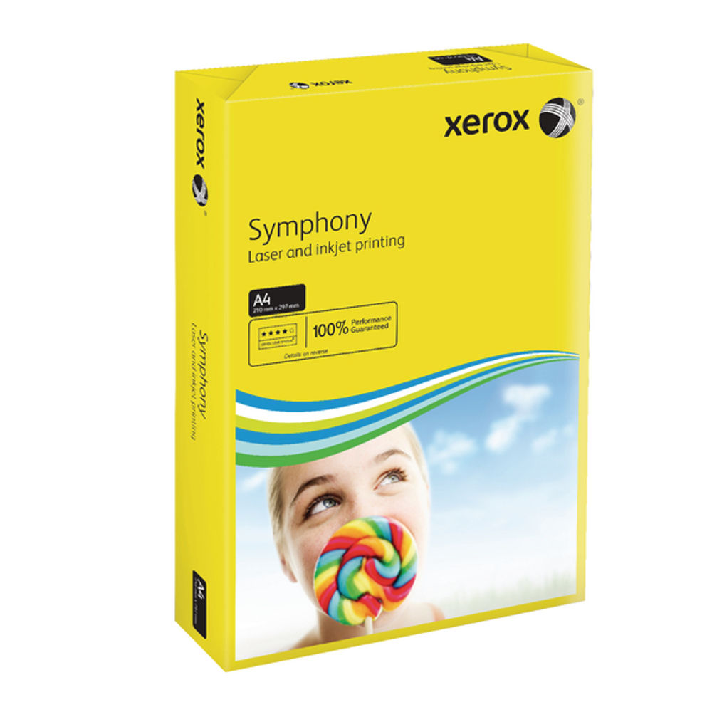 Xerox Symphony Dark Yellow A4 Paper, 80gsm - 500 Sheets - 003R93952