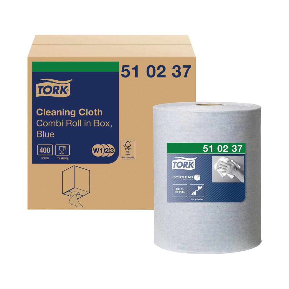 Tork 152m Blue Multipurpose Cloth Combi Roll - 510237