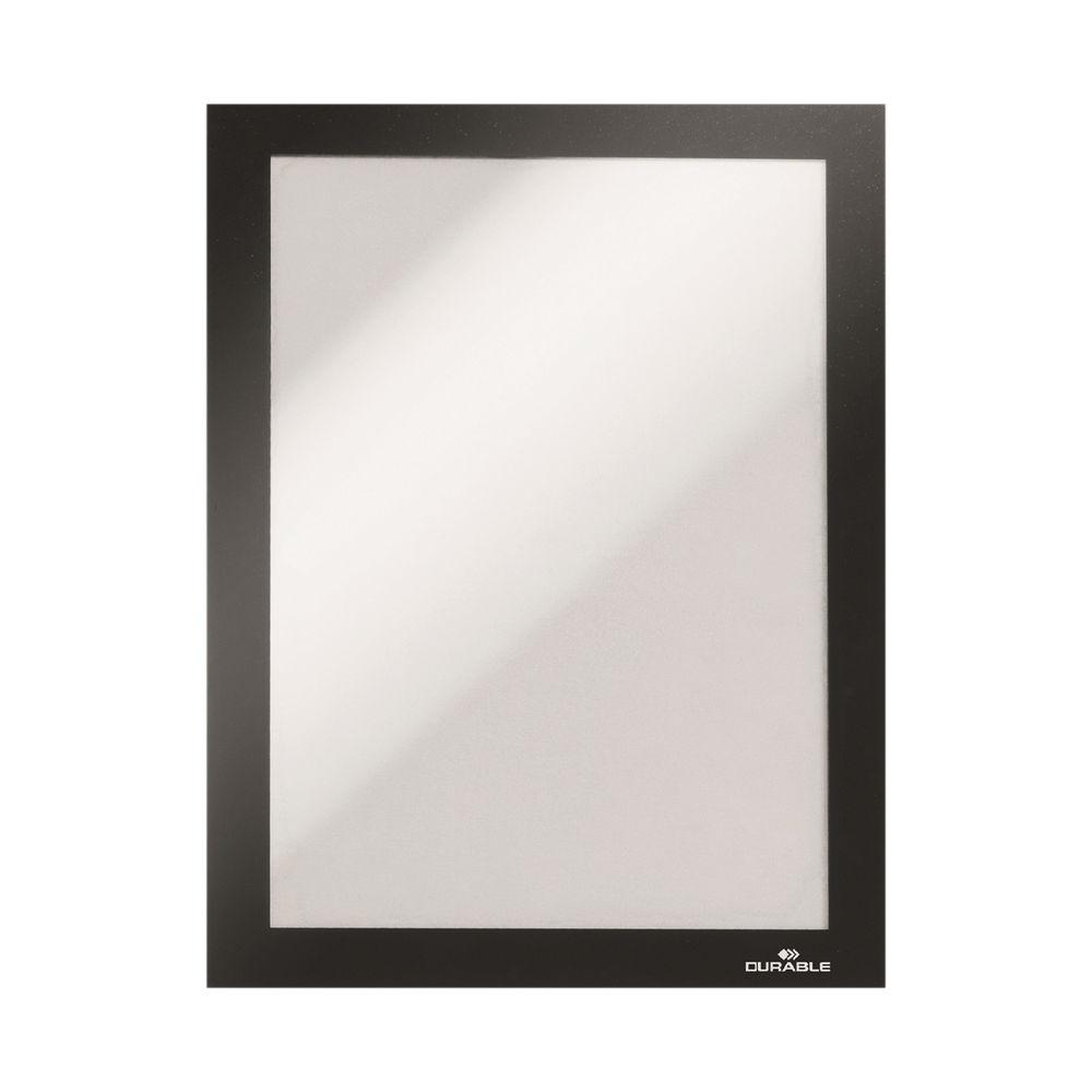Durable Duraframe Self-Adhesive Frame A5 Black 489801