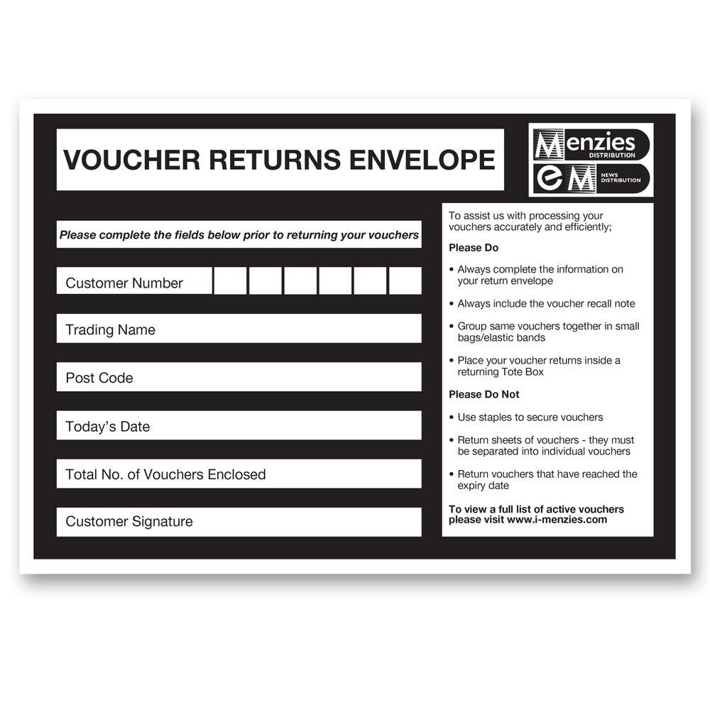 Menzies C5 Voucher Envelopes MENC5VOUENV (Pack of 1000)