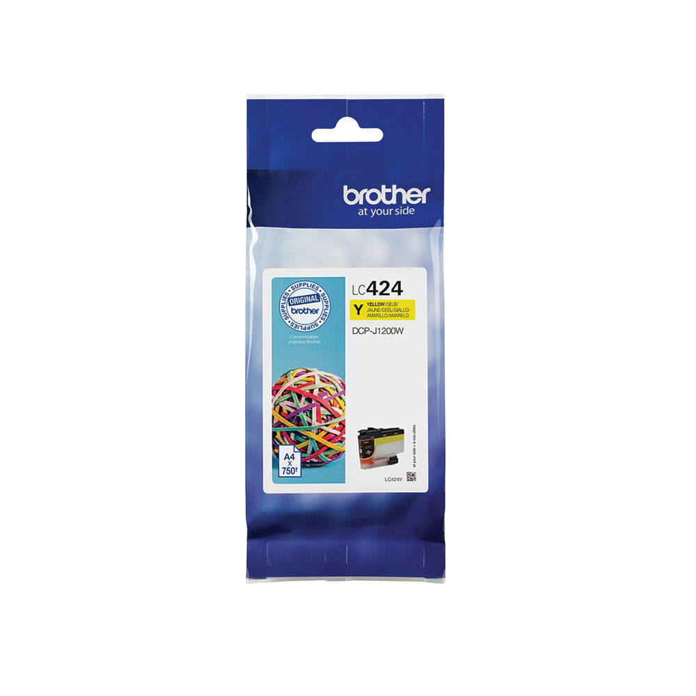 Brother Yellow Ink Cartridge LC424Y