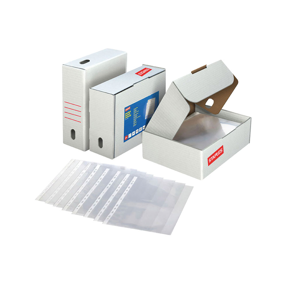 Staples Premium Reinforced Plastic Punched Pockets - 100742073